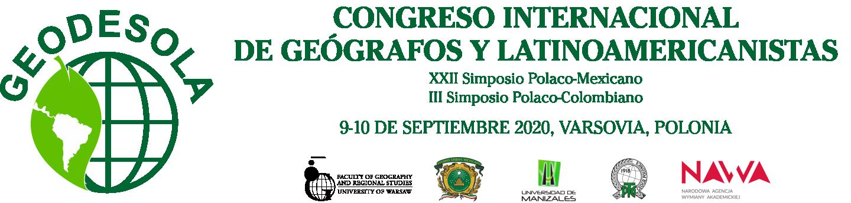 CONGRESO INTERNACIONAL DE GEÓGRAFOS Y LATINOAMERICANISTAS Logo